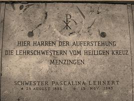 The Final Resting Place Of Sister Pasqualina Lehnert